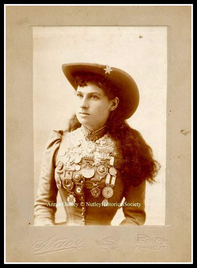 Sharpshooter Annie Oakley lived in Nutley, N.J. 1894