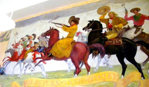 Return of Annie Oakley - Nutley, NJ Post Office mural