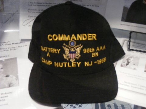 Camp Nutley - hat on display in Ann A. Troy Gallery of Nutley Museum