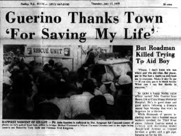 Guerino Thanks Town 'For Saving My Life' Nutley, NJ 1975