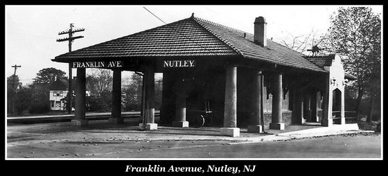 Franklin Avenue, Nutley, Erie Railroad Station - Nutley Historical Society Archives