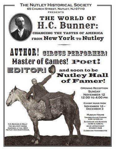 The World of HC Bunner - Nutley Museum event 2017