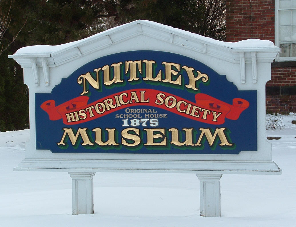 Nutley Historical Society sign, photo by Anthony Buccino, used by permission.