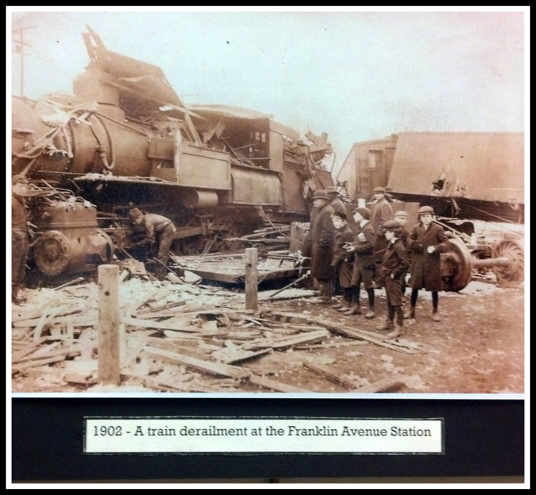 Franklin Avenue Rail Station Derailment 1902 Nutley NJ
