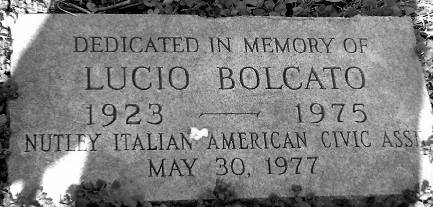 Lucio Bolcato memorial near Brookfield Avenue bridge at Third River, Nutley, NJ