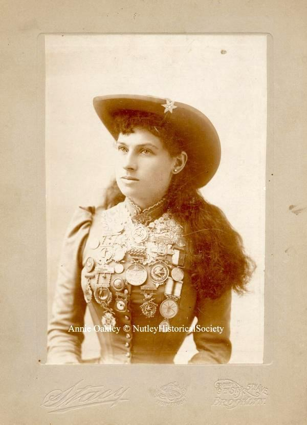 Miss Annie Oakley, famous resident of Nutley, N.J.